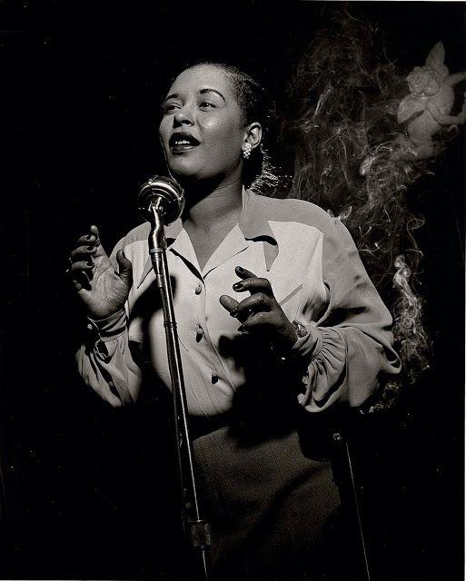 Billie Holiday (1915-1959) - American jazz singer and songwriter. Photo Herman Leonard