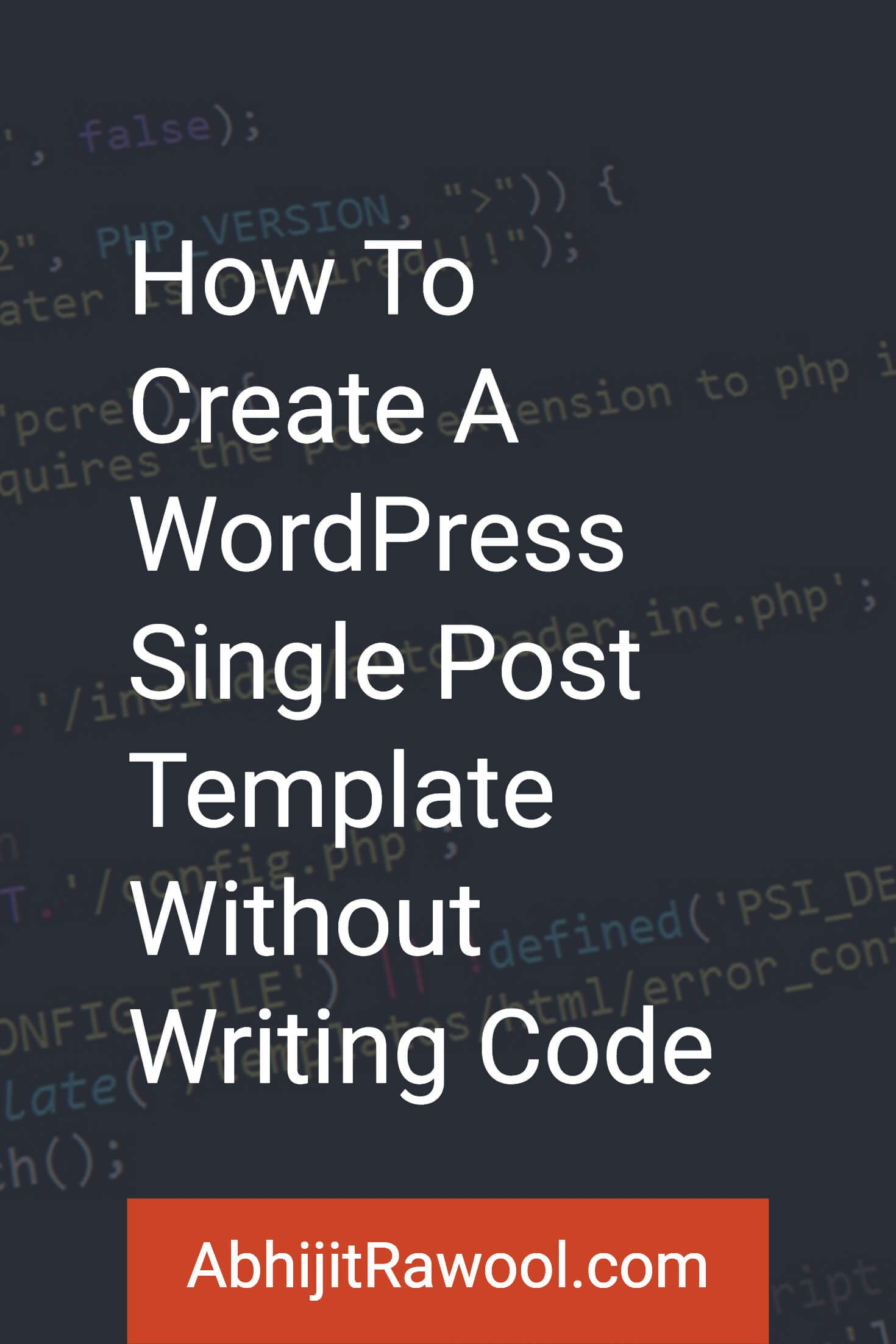 How to create a wordpress single post template without code want to create a custom wordpress single post template without writing any code this tutorial maxwellsz