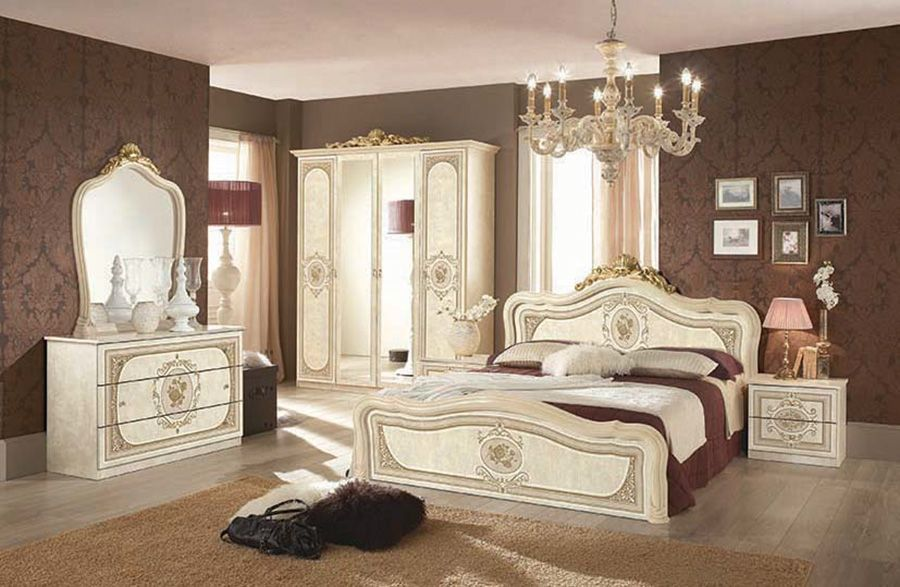 Italian Bedroom Furniture Set Ivory Beige Milady Walnut Camelgroup Italy Classic Bedrooms Italian Bedroom Furniture Classic Bedroom Furniture