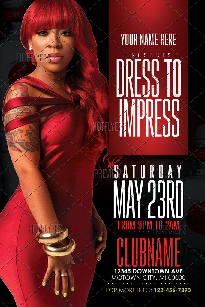 Dress To Impress Flyer Flyer Template Psd Flyer Templates And