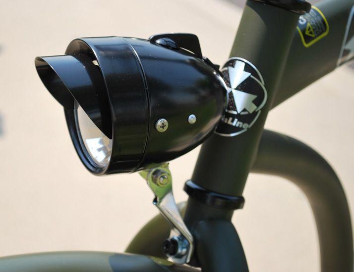 BICYCLE BULLET HEADLIGHT VISOR CHROME CRUISER LOWRIDER BIKES