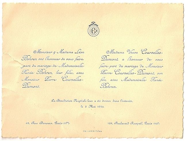 1924 french wedding invitation weddingspinster vintage 1924 french wedding invitation weddingspinster stopboris Images