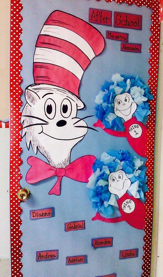 My Classroom Door. The Cat in the Hat | Crafts | Pinterest ...