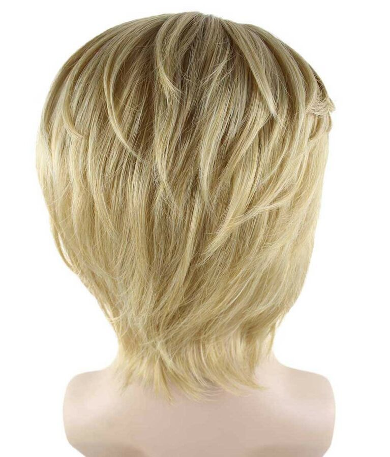 Blonde Gold Short Wig for Cosplay Frozen Kristoff Costume Halloween Party HM-223