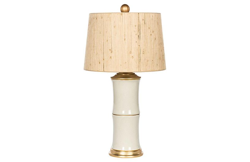 Bamboo Style Table Lamp White Natural Lamp White Table Lamp