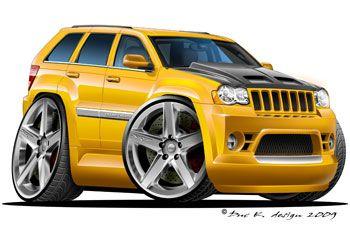 Cherokee Jeep Srt8 Bugatti Cars Car Cartoon