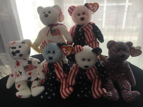 a267c718ce2 Rare TY Beanie Babies Spangle Glory Libearty USA Patriotic Bears. Find this  Pin and more on Beanbag Plush ...
