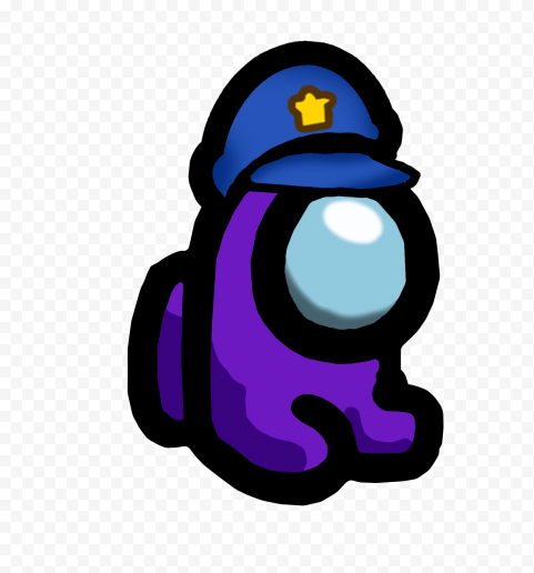Hd Purple Among Us Mini Crewmate Character Baby Police Hat Png Citypng Police Hat Cute Cartoon Wallpapers Kawaii Wallpaper