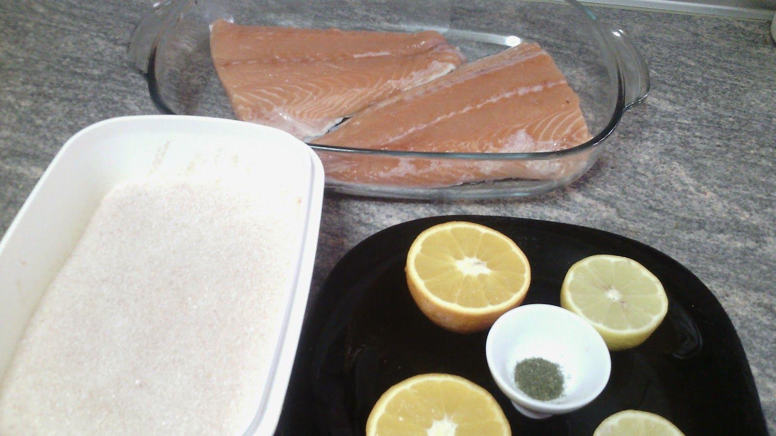 Cocinando a la Familia: Salmón marinado a la naranja