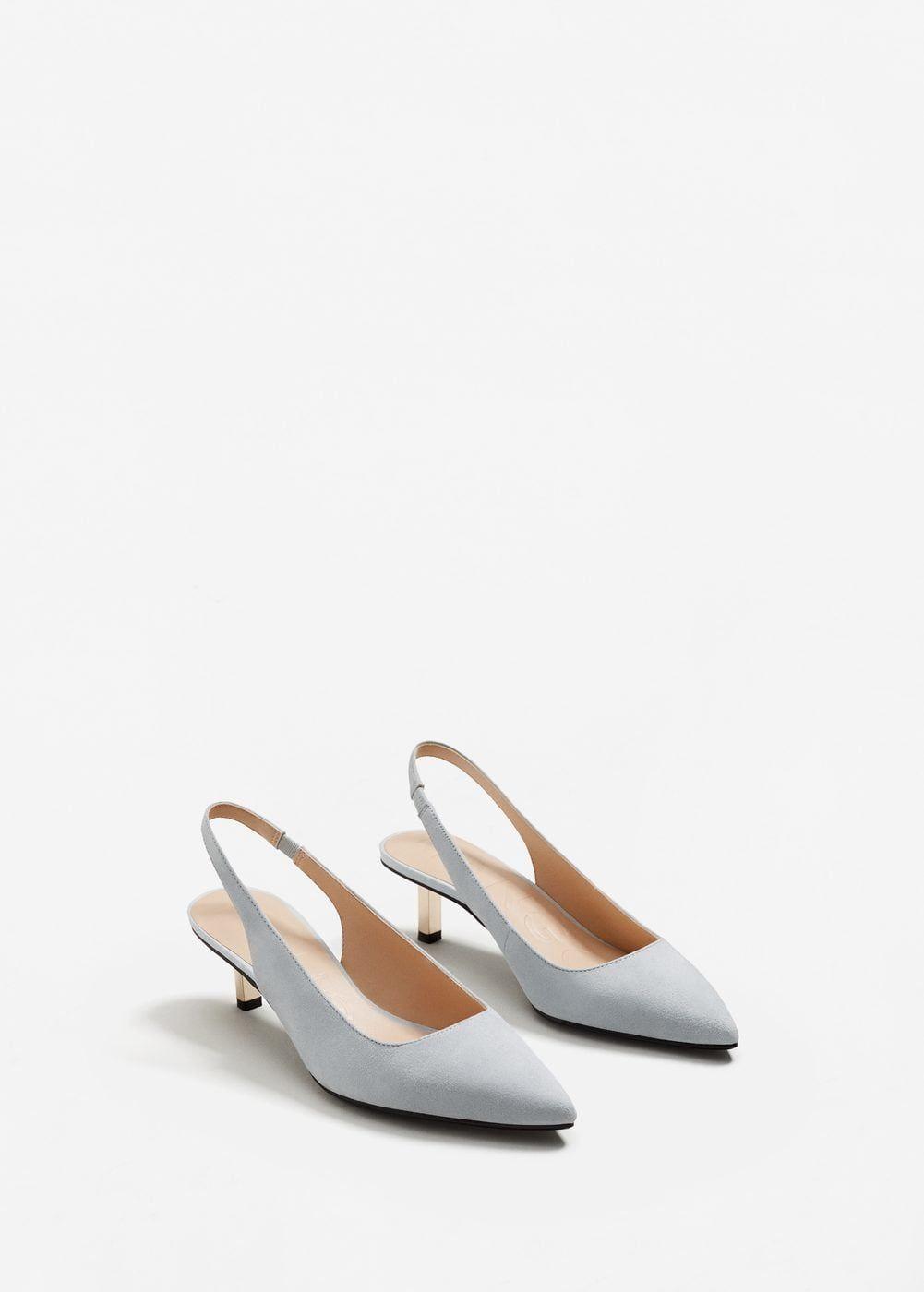 Kitten heel shoes, Slingback shoes