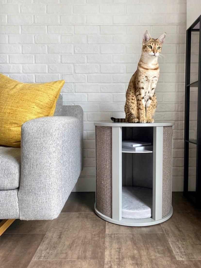 Purrrrfect End Table Modern cat furniture, End tables, Table
