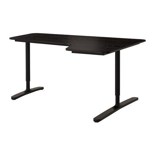 ikea bekant corner desk right black brown black 160 x 110 cm 10 year rh pinterest com