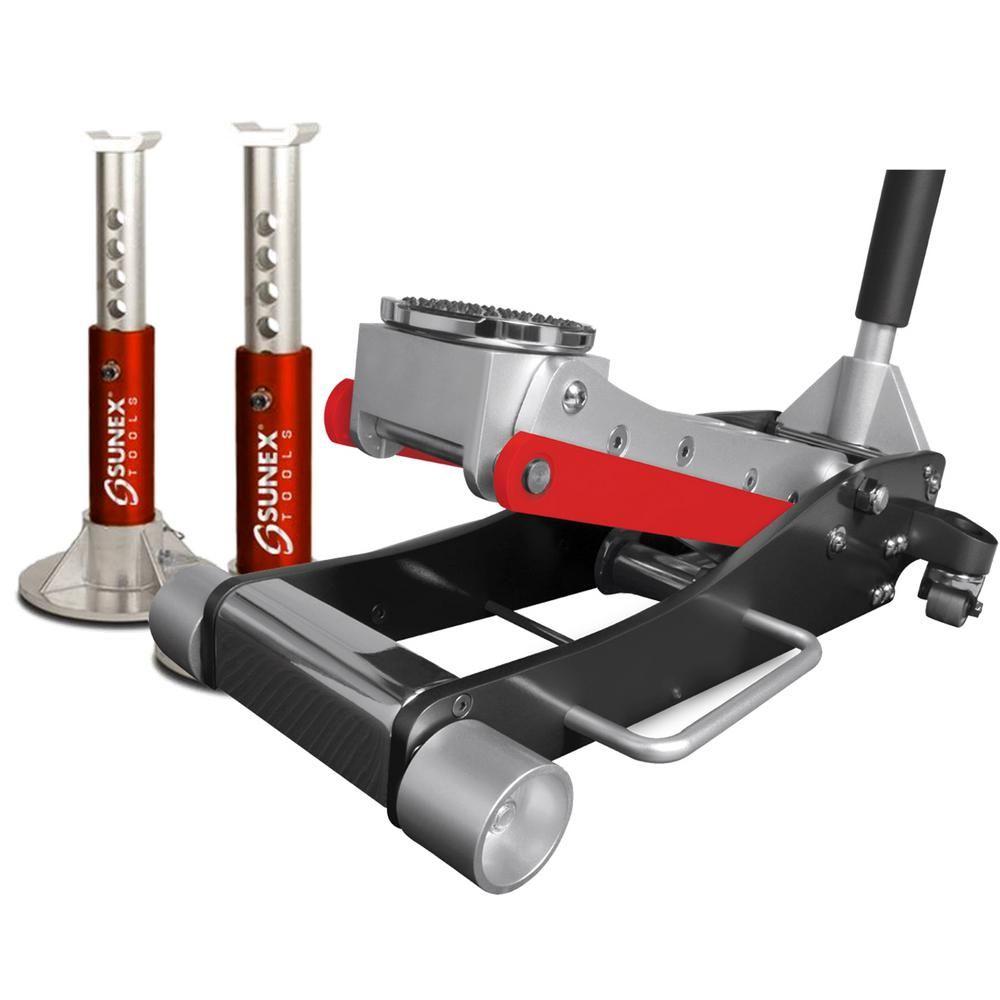 Sunex Tools 3Ton Aluminum Floor Jack with Jack Stands