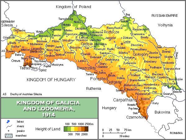 Map of the Kingdom of Galicia, 1914 - Galicia (Eastern Europe - new world map blank wikipedia
