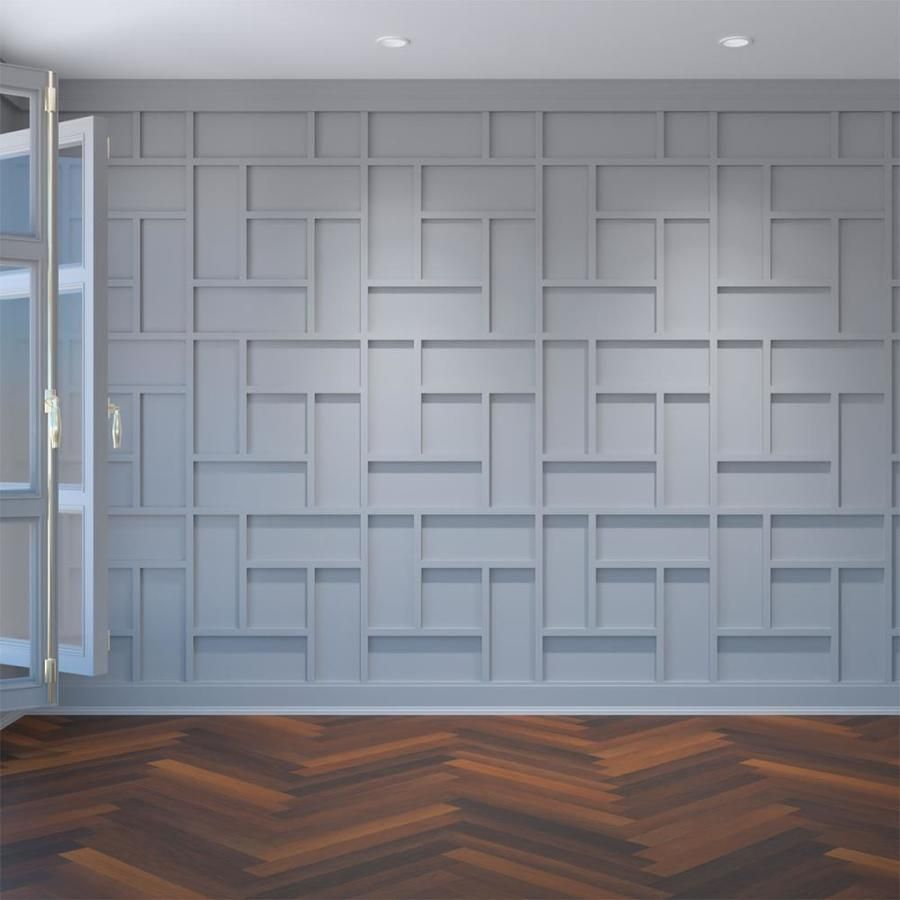 Ekena Millwork Large Sheffield Fretwork 23 375 In X 1 95 Ft Smooth White Wall Panel Lowes Com In 2020 Decorative Wall Panels White Wall Paneling Wall Paneling Diy
