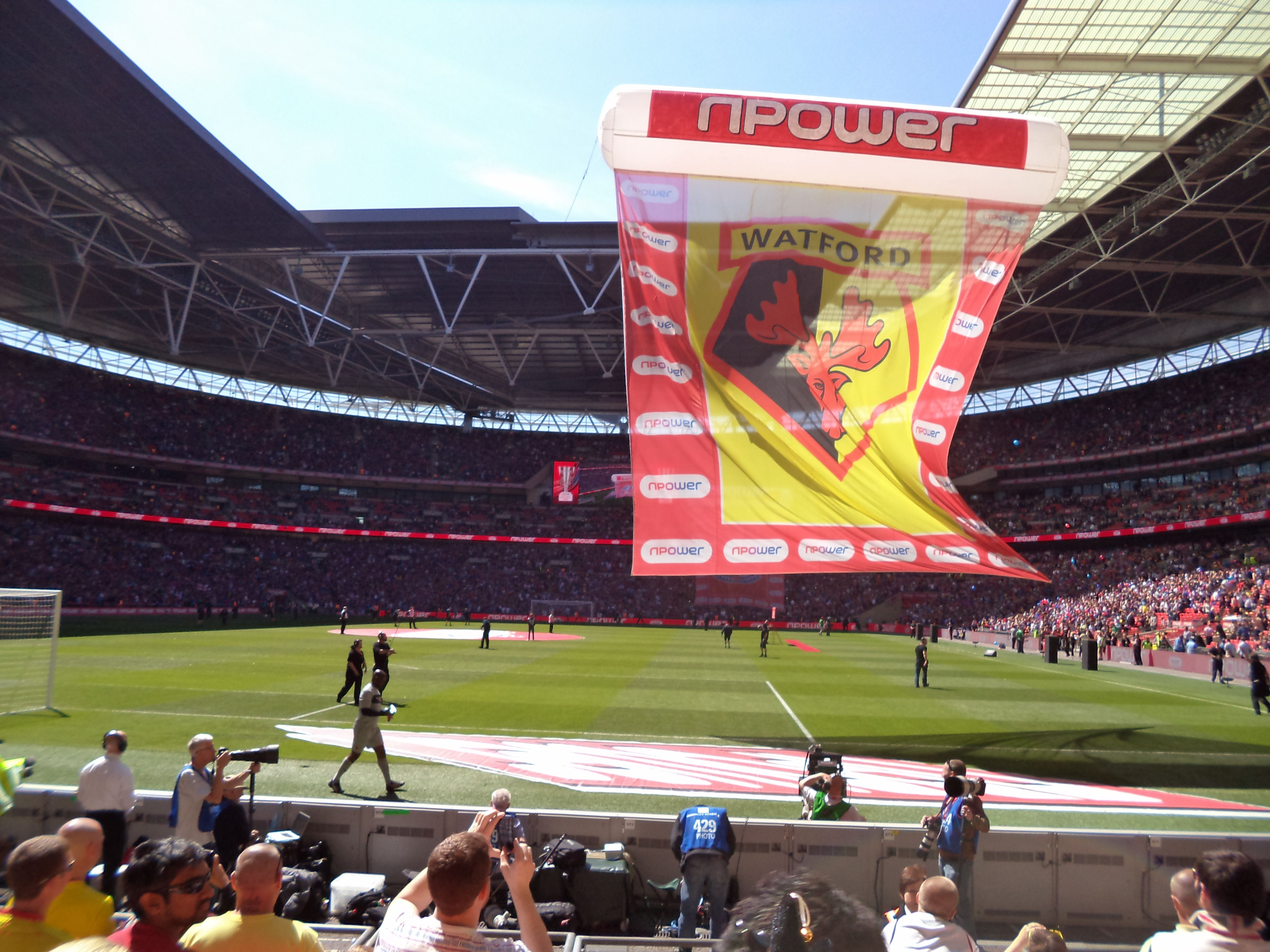 watford fc flag championship playoff 27th may 2013. Black Bedroom Furniture Sets. Home Design Ideas