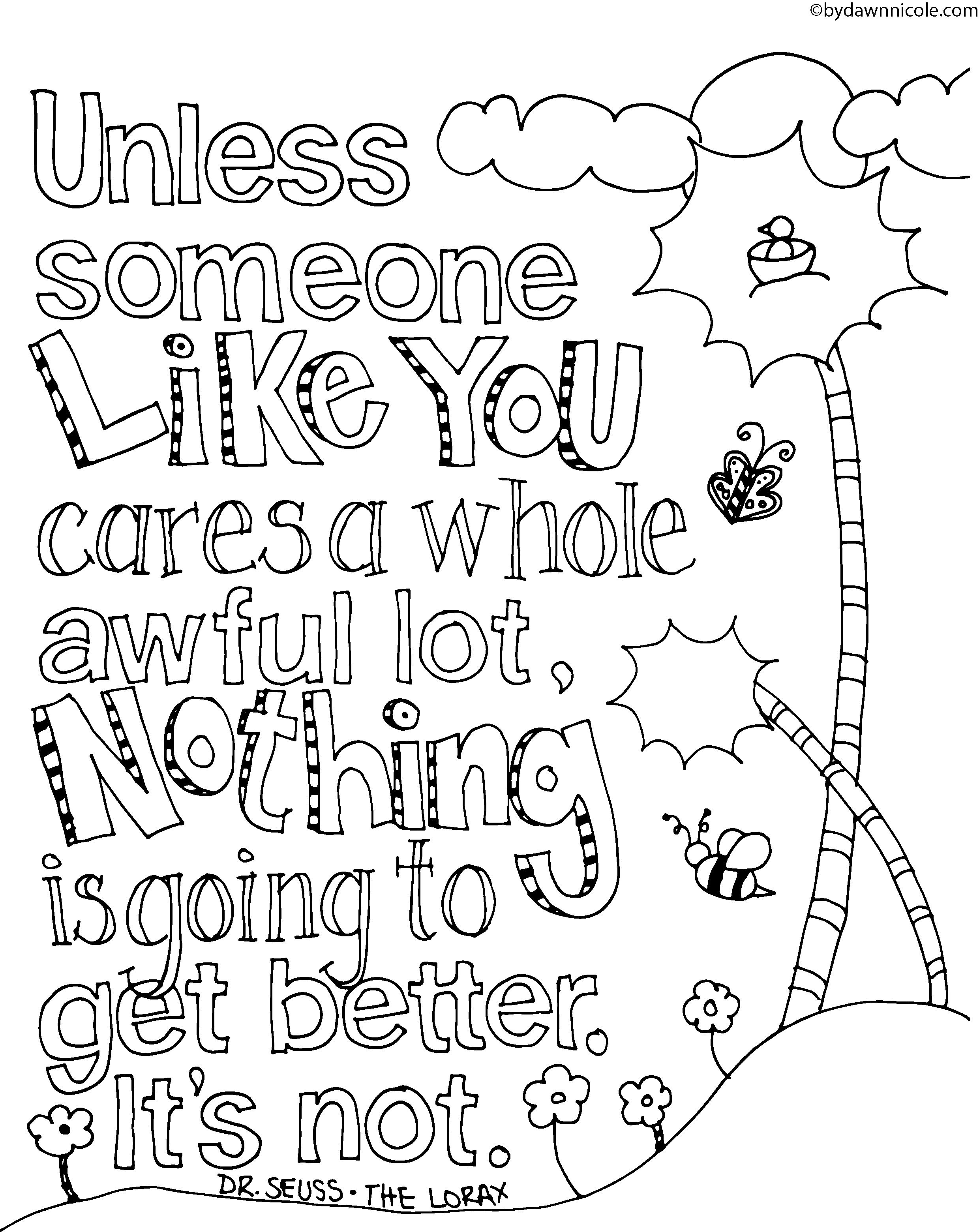 Lorax Coloring Pages to Print | Dr. Seuss | Pinterest | Kind