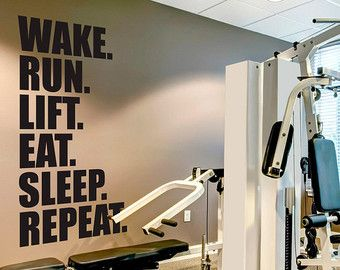 Stronger than yesterday quote sports decals gym wall decal