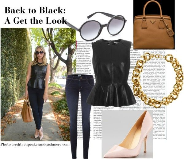 """""""Back to Black: A Get the Look"""" by diamondsanddecor on Polyvore"""
