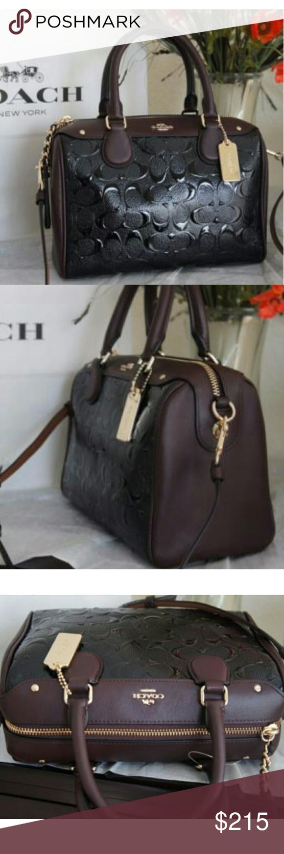 6217e0a89c9c2 Coach Bennett Patent Handbag Coach Mini Bennett Satchel In Signature  Debossed Leather Style  F11920 Color