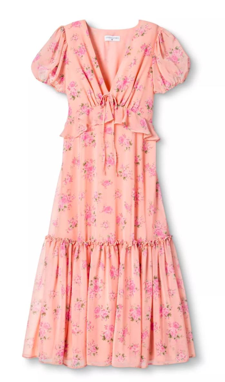 Loveshackfancy X Target Midi Short Sleeve Dress Dresses Babydoll Style Dress [ 1186 x 698 Pixel ]
