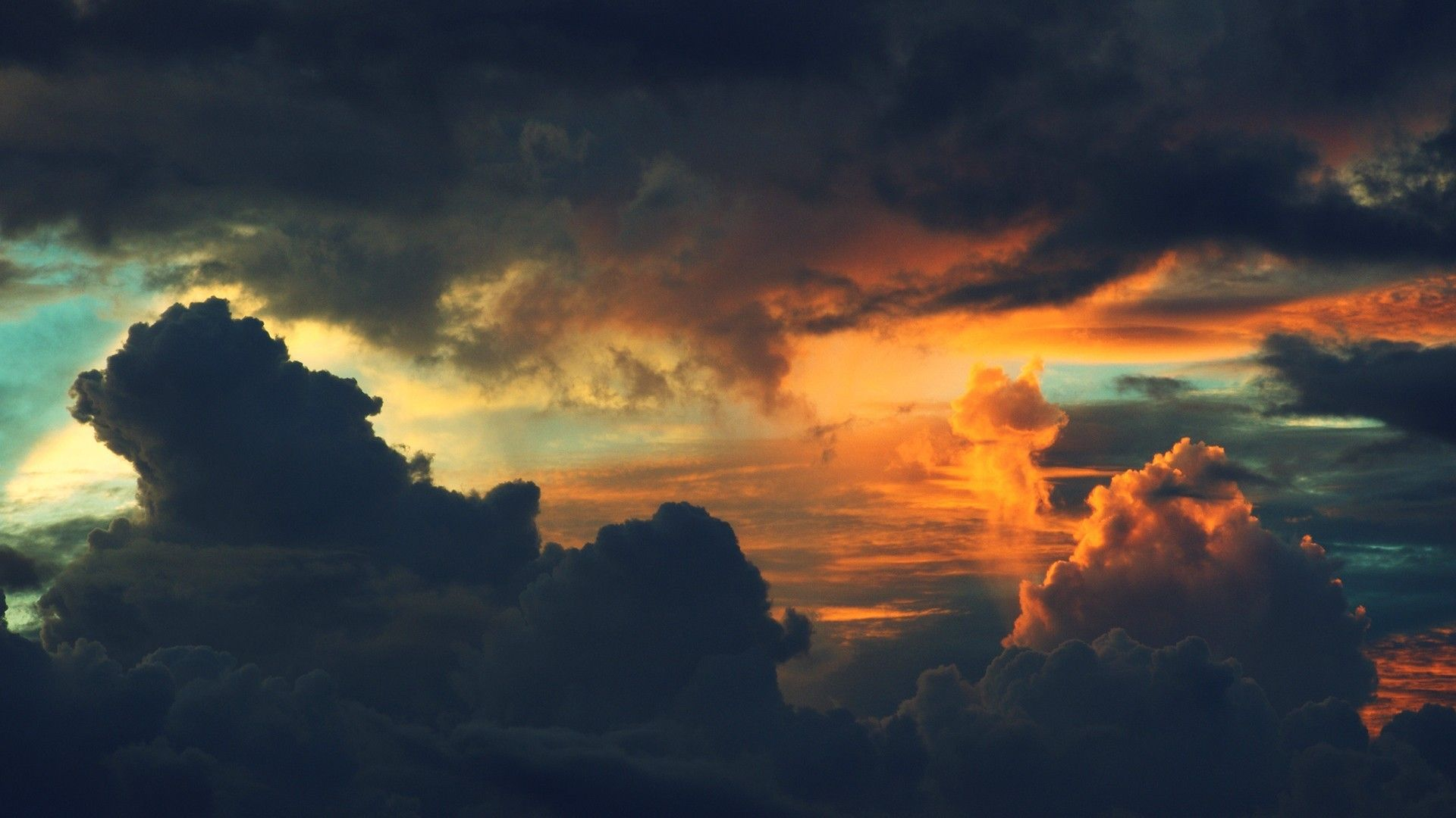 nature, clouds, sunset, wallpaper (With images