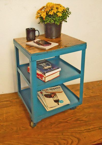 Best Metal Minicart End Table Nightstand Small By 640 x 480