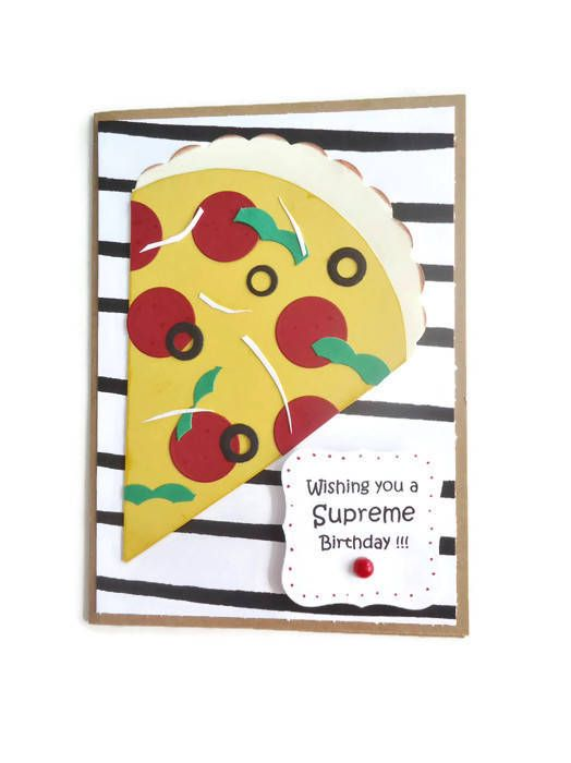 Pizza Birthday Card Wishing You A Supreme