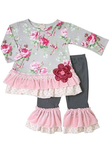 Haute Baby Ruby Rose Tunic Set Sold Out Boutique Kids Clothes