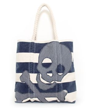 - NAUTICAL SKULL STRIPED TOTE LOUNGEFLY. I have this bag & it's awesome. Really big & well made.
