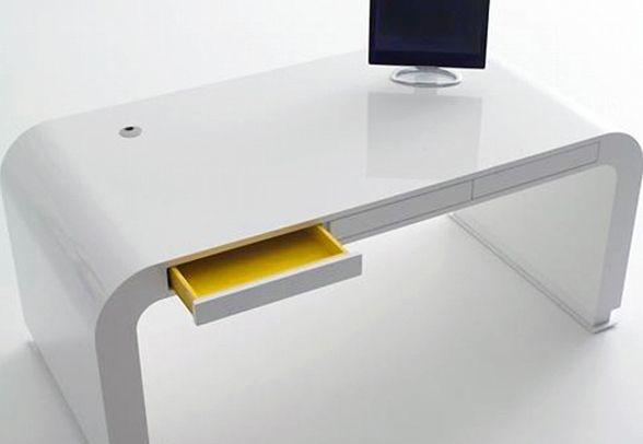 New Design White Personal Small Office Desk Furniture Minimalist