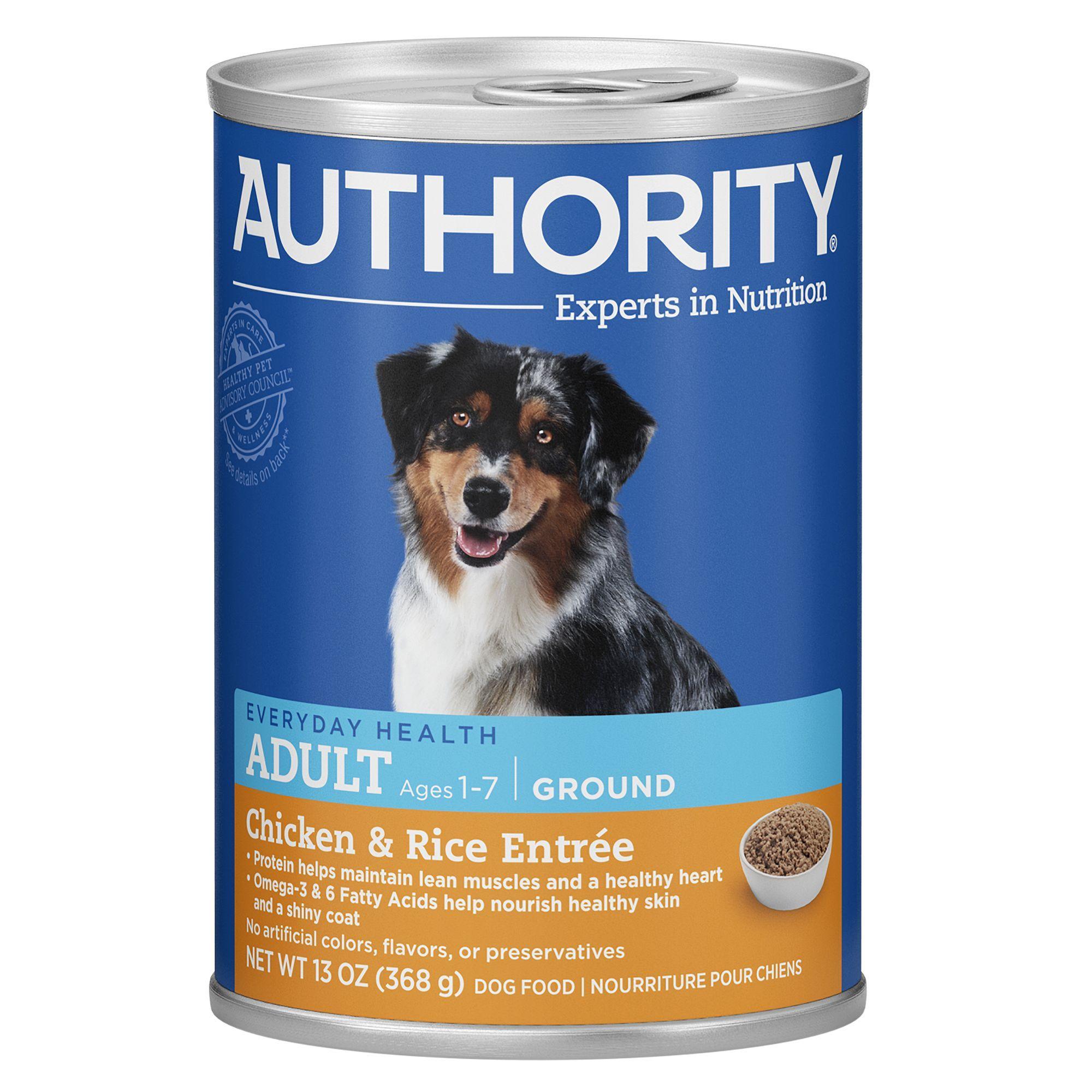 Authority Ground Entree Adult Wet Dog Food Size 13 Oz Beet
