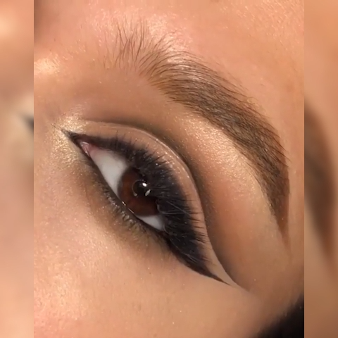 BRONZE BROWN EYE MAKEUP LOOK TUTORIAL