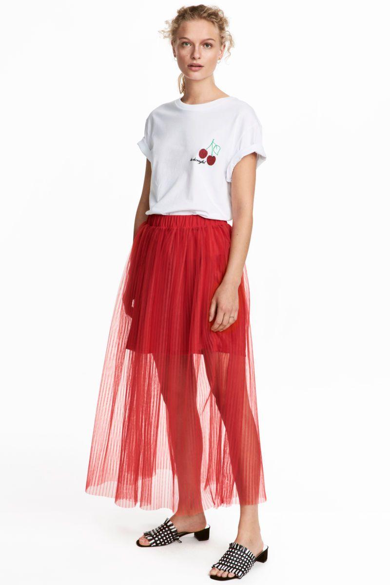 c265bf254 H&M Pleated Tulle Skirt - #skirt #tulle #tulleskirt #affiliatelink ...