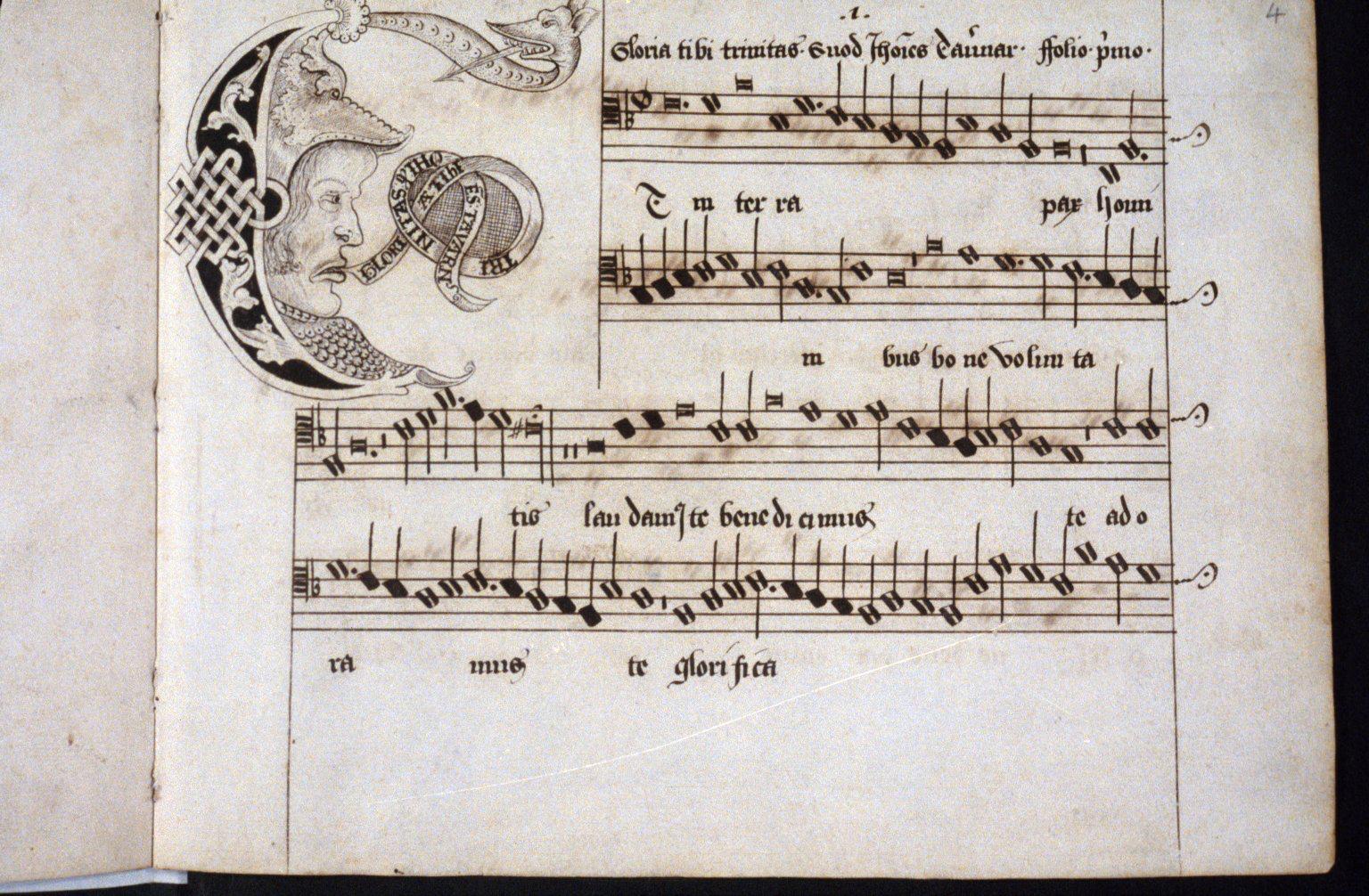 John Taverner Caricatured At The Start Of His Mass Gloria Tibi Trinitas In The Tenor Voice Part Bodleianlibs Mus Sch E John Taverner Caricature The Voice