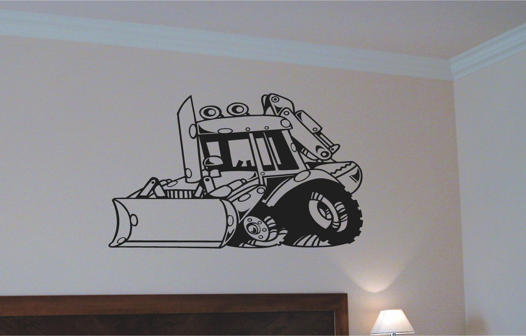 back hoe car wall decal auto wall mural vinyl stickers boys back hoe car wall decal auto wall mural vinyl stickers boys room decor