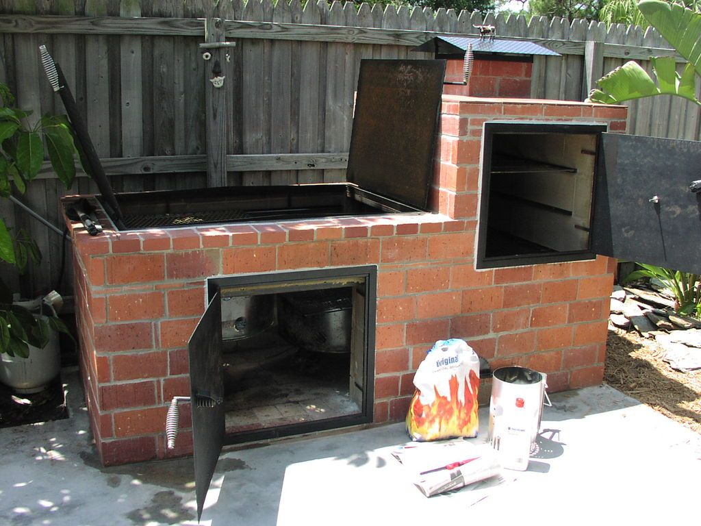 Brick barbecue barbecues bricks and backyard for Outdoor bbq grill designs