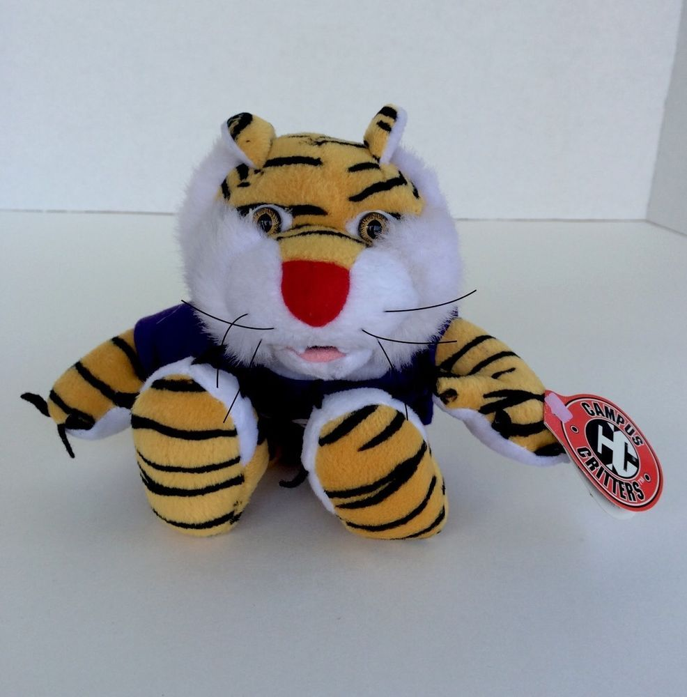 New 1998 Lsu Mike The Tiger Mascot Campus Critters Bean Animal
