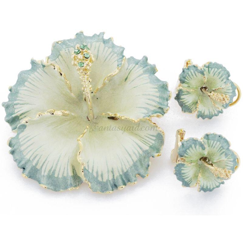 hibiscus earrings - Google Search