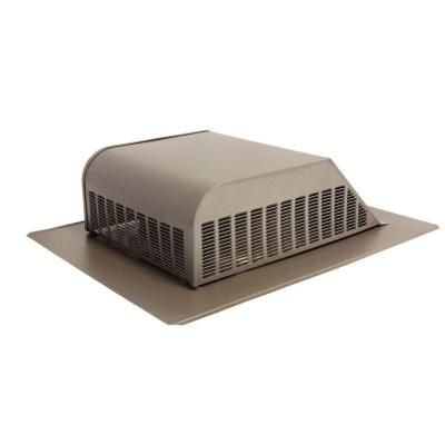 Air Vent 50 Sq In Nfa Aluminum Slant Back Roof Louver Static Vent In Weatherwood Sold In Carton Of 6 Only Air Vent Ventilation System Aluminum Screen
