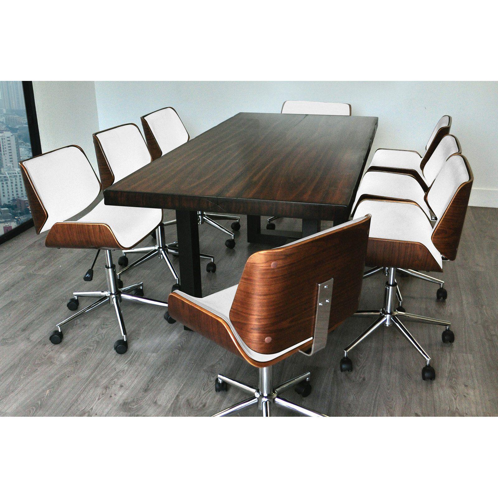 Tremendous Solis Rebus 9 Piece Conference Table Set Brown White Dailytribune Chair Design For Home Dailytribuneorg