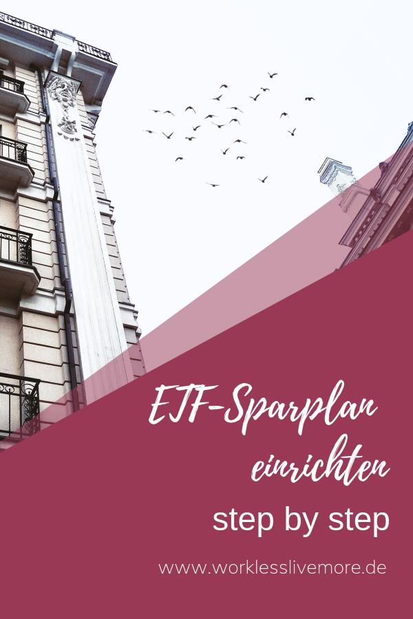 ETFSparplan einrichten Step by Step Anleitung