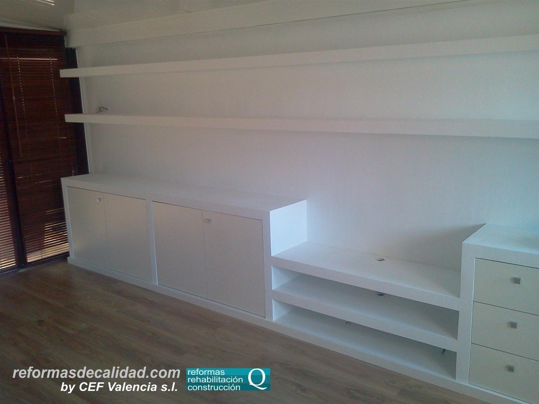 Diseño de un mueble de obra completo de más de 6 metros de longitud ...