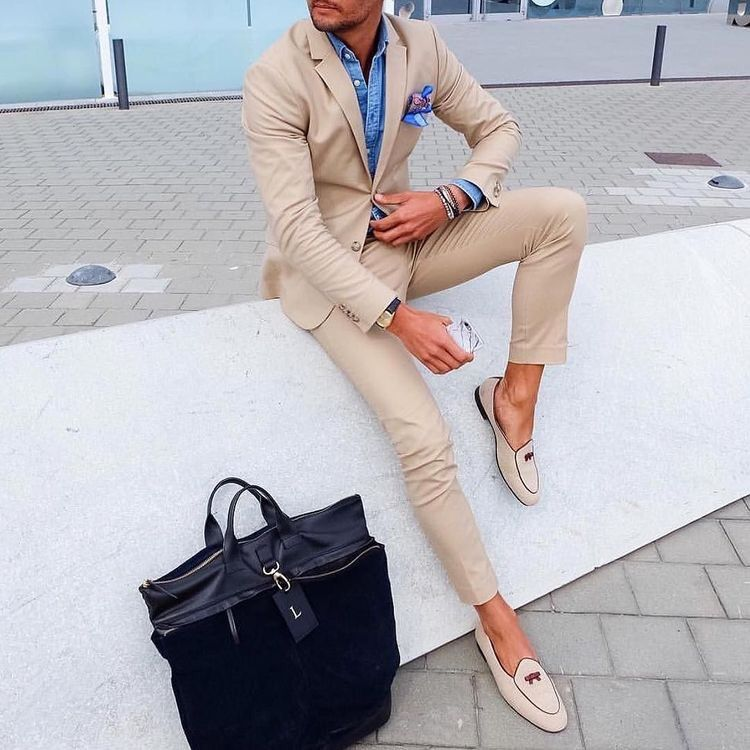 men 39 s fashion style lookbook fashion men dcmensfashion beige suit men fashion. Black Bedroom Furniture Sets. Home Design Ideas