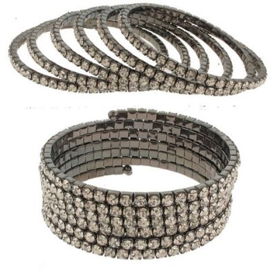 Wholesale Jewelry & Accessories - Rhinestone Coil Bracelets