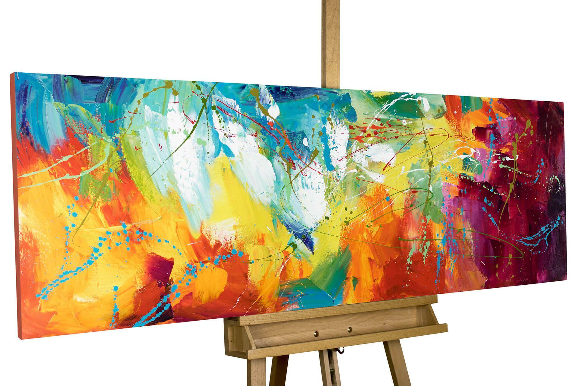 Acryl Gemälde Bright Future 150x50cm Acrylmalerei Abstrakt Abstrakt Gemälde