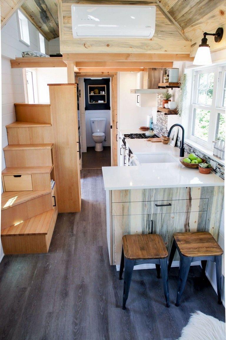Http Wallhomez Com Wp Content Uploads 2019 10 52 Awesome Tiny House Small Kitchen Ideas18 Jpg Tiny House Kitchen House Design Kitchen Kitchen Design Small