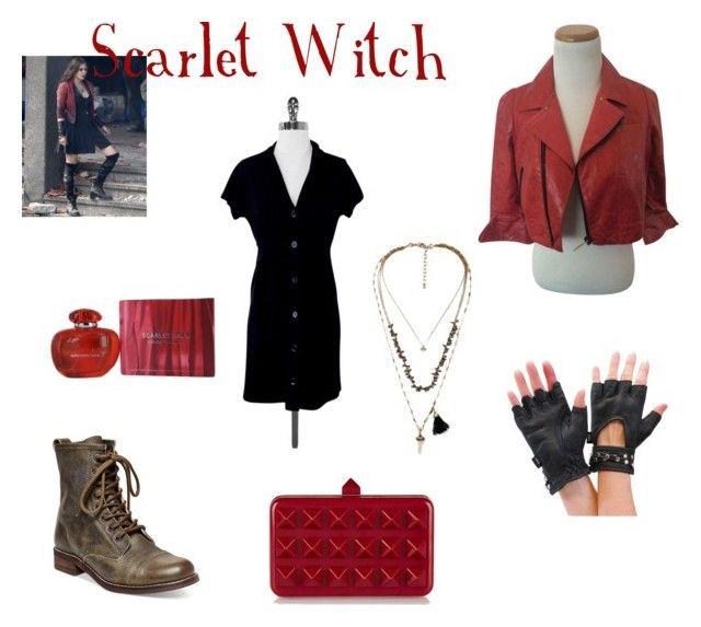 """Scarlet Witch"" by sfinn on Polyvore featuring Olsen, Iisli, Steve Madden, Elise Øverland, Valentino and Mandarina Duck"