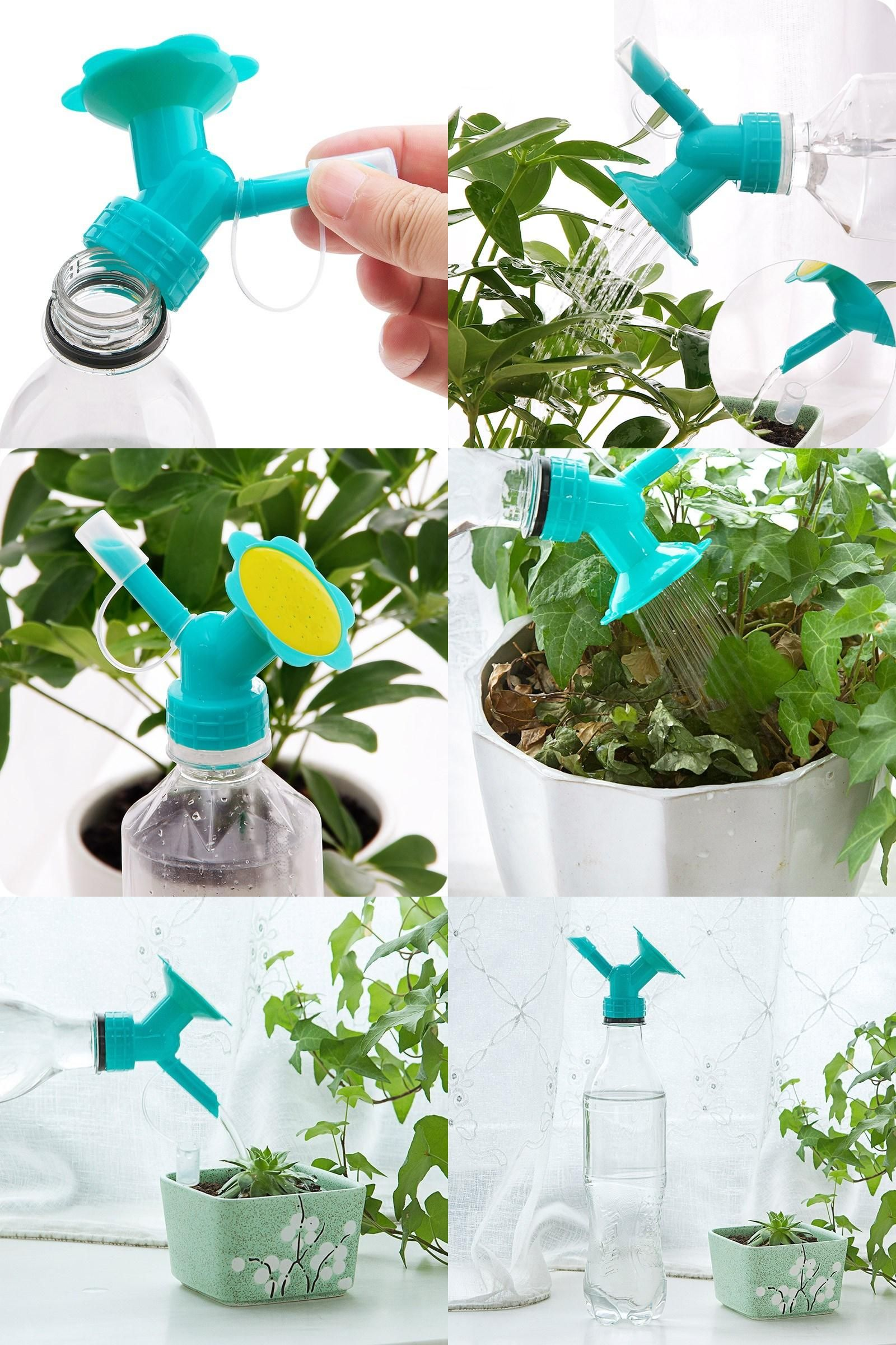 2 In 1 Plastic Nozzle For Flower Plant Waterers Bottle Watering Cans Sprinkler