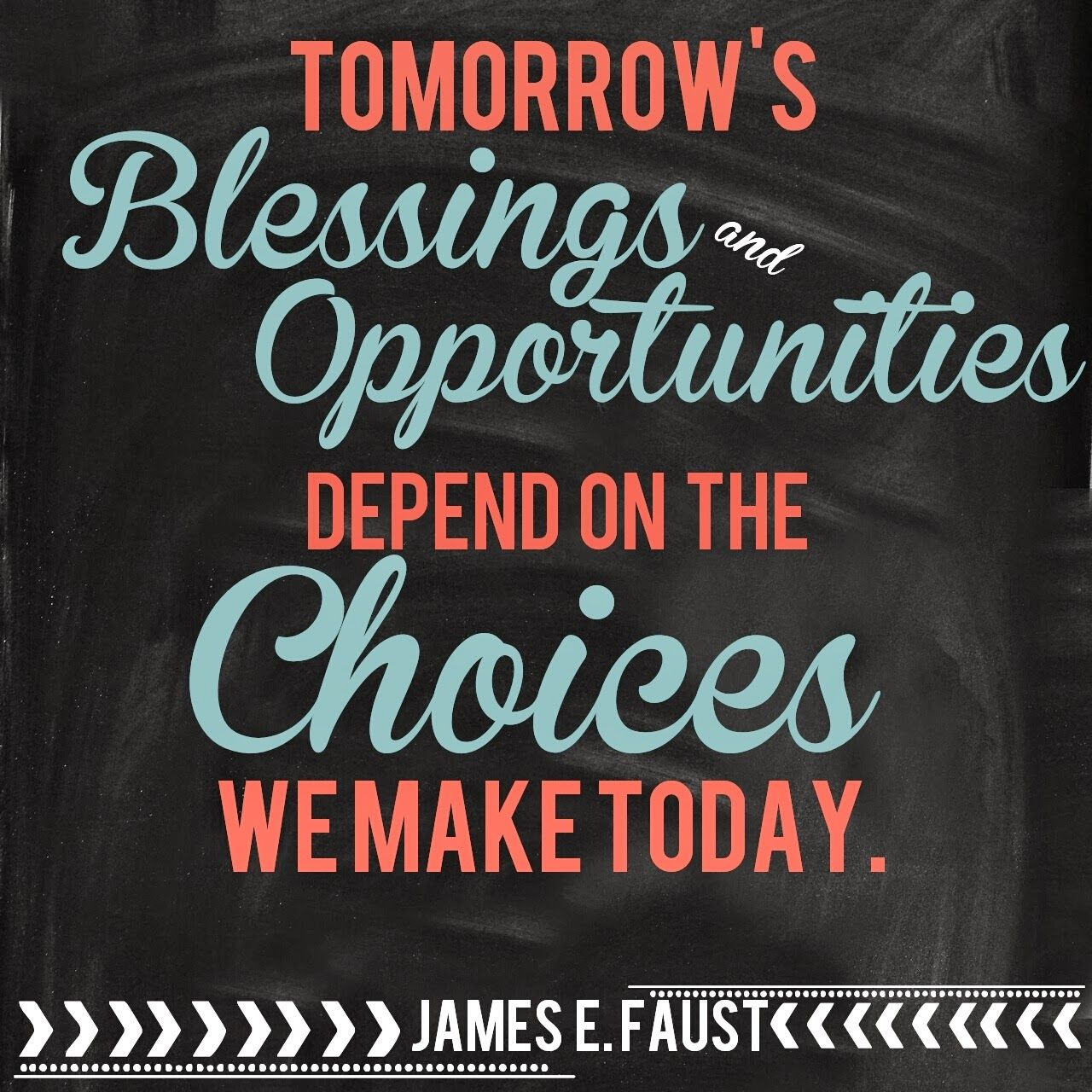 English Quotes: Life Quotes: Tomorrow's Blessings And Oppotunities Depend